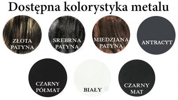 Kolorystyka metalu - Kwietnik ścienny - Sklep DecoArt24.pl