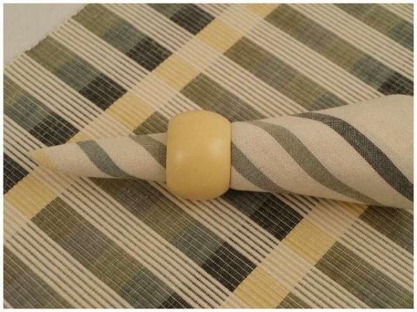 Podkładki na stół + Serwetki + Obrączki na serwetki x 4-szt - Beżowe