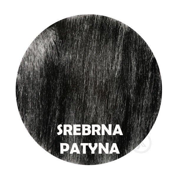 Srebrna patyna - kolorystyka metalu - Kwietnik kolumna - Sklep