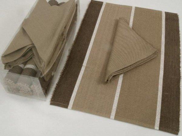 Podkładki na stół + Serwetki x 6-szt - Cappucino