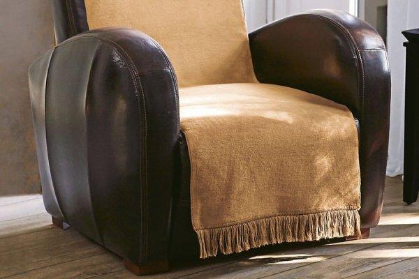 Narzuta na fotel - Beżowa - 100x200 cm
