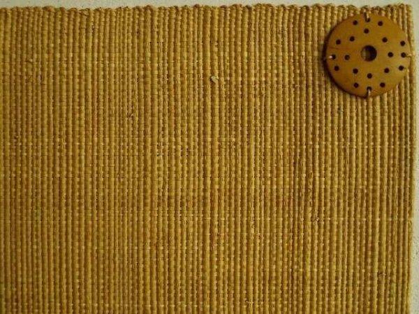 Podkładki na stół - Rafia - Bursztynowy -  33x48cm - 4szt