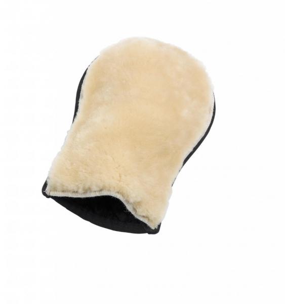 BUSSE LAMMFELL Rękawica do czyszczenia konia z naturalnym futrem