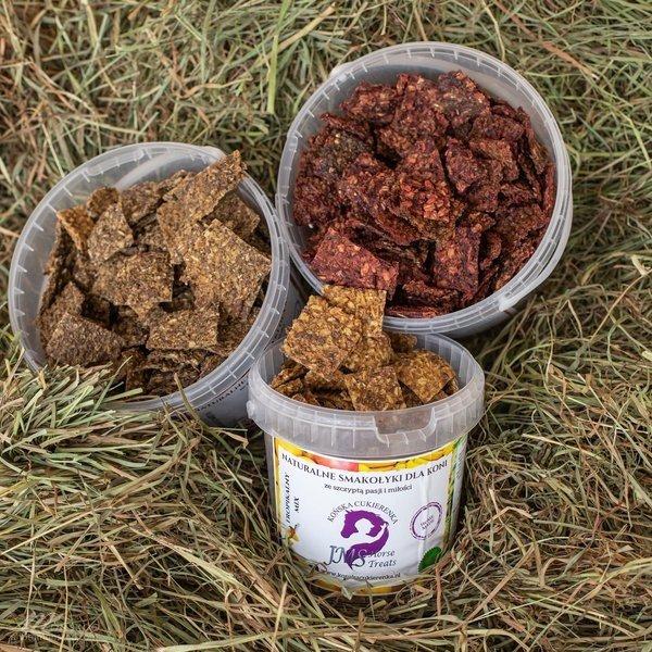 KOŃSKA CUKIERENKA Smakołyki/Cukierki naturalne dla koni HAWAJSKIE 24H