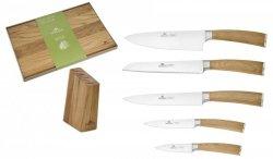 Noże Gerlach 320 Natur zestaw noży + blok + Deska Gerlach 45x30