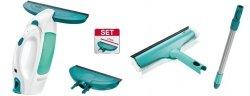 Odkurzacz do szyb Leifheit 51004 Dry & Clean (Myjka) + ściągaczka o szerokości 17 cm + Myjka 3 w 1 + drążek 43 cm