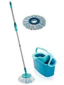 Mop okrągły obrotowy Leifheit Clean Twist ERGO + dodatkowa nakładka | 52101/52104