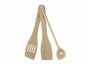 DELIMANO Brava zestaw drewnianych akcesoriów kuchennych 3 szt. | 110039471 | MANGO TV