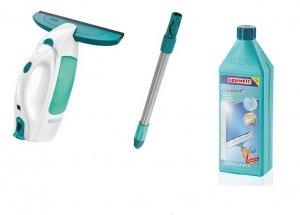 Odkurzacz do szyb Leifheit Dry & Clean + drążek 43 cm + koncentrat do mycia szyb | 51001/41414