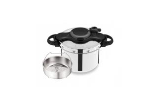 Szybkowar Tefal CLIPSOMINUT' EASY P46248 69 | 7,5L l Koszyk do gotowania na parze | CZARNY