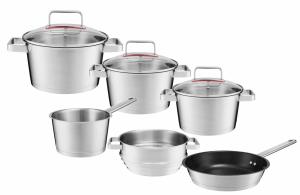 Zestaw garnków Ambition Selection + pokrywy + patelnia 24cm + wkład do gotowania na parze |  31029/31030/31031/31032/31034/31035 | 9PCS
