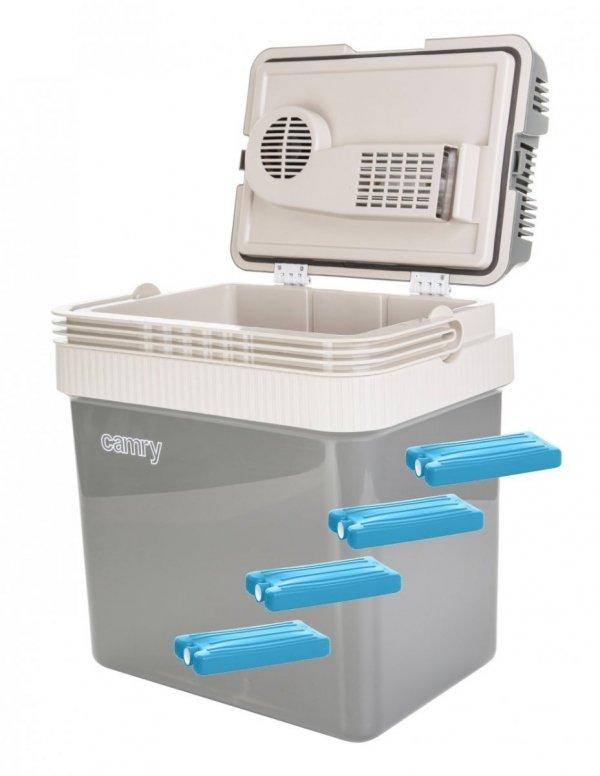 Lodówka turystyczna Camry 24 litry + wkłady chłodzące 250ml | CR8065/4xW250ML