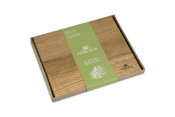 Deska do krojenia Gerlach Natur 45 x 30 cm z drewna dębowego 5901035489332