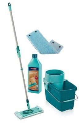 Mop obrotowy Leifheit Clean Twist M 33 cm + Nakładka Extra Soft + Płyn do parkietu | 52014/55321/41416