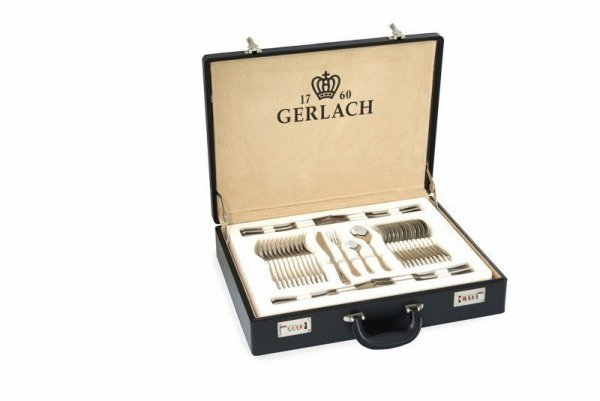 Sztućce Gerlach NK 04 Antica w walizce - 68 sztuk, połysk #wysyłka G R A T I S#
