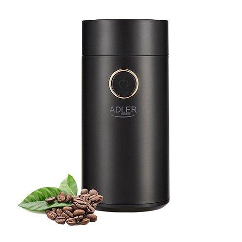 Młynek do kawy Adler AD 4446bs | CZARNY BLACK SILVER | 150W
