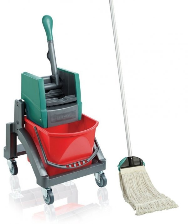 Zestaw Leifheit Professional | Wózek do sprzątania Leifheit Uno + Mop SZNURKOWY Leifheit Professional z nakładką | 59102/59120