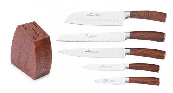Noże Gerlach 979 Colonial zestaw noży + blok