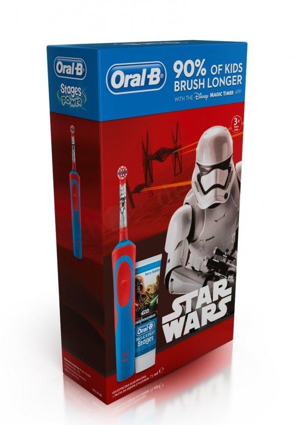 Szczoteczka elektryczna Braun Oral-B D12 Kids Star Wars + Pasta #Akumulatorowa