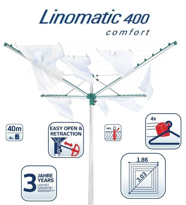 Suszarka ogrodowa Leifheit Linomatic 400 Comfort (Symbol: 85271)