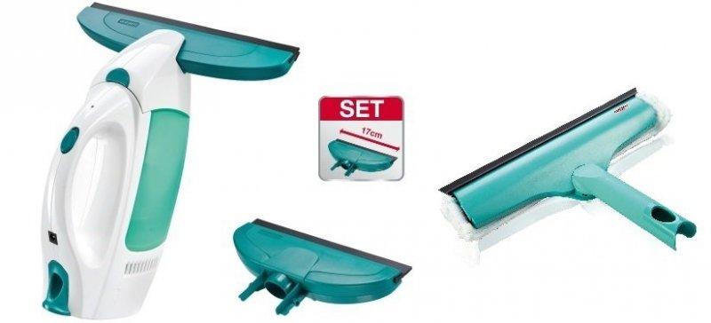 Odkurzacz do szyb Leifheit Dry & Clean + ściągaczka o szerokości 17 cm + Myjka 3 w 1 | 51004/51320
