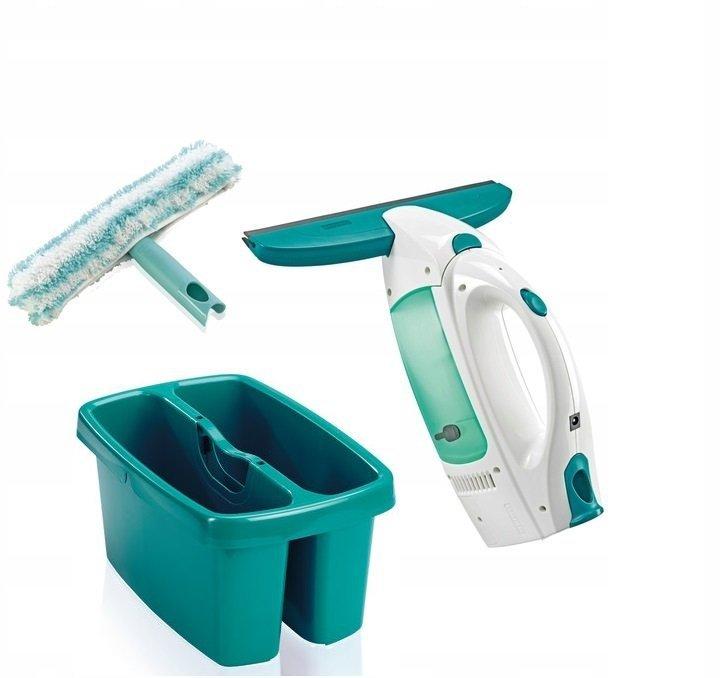 Zestaw: Odkurzacz, myjka do szyb, okien Leifheit Wet&Dry + wiadro dwukomorowe | 51002/5200