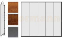 Brama boczna HST, Decograin, Przetłoczenia L, okleina Golden Oak (złoty dąb), Dark Oak (orzech), Titan Metallic (antracyt)