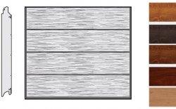 Brama LPU 42, 2190 x 2080, Przetłoczenia L, Decograin, okleina drewnopodobna