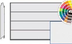 Brama LPU 42, 4250 x 2250 Przetłoczenia L, Silkgrain, kolor do wyboru