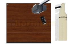 Brama automatyczna ISOMATIC 42 mm, 2500 x 2125, Przetłoczenia L, DecoColor, Dark Oak, z napędem elektrycznym
