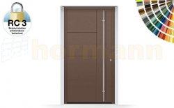 Drzwi aluminiowe ThermoSafe, Wzór 871, kolor do wyboru, przeciwwłamaniowe RC 3