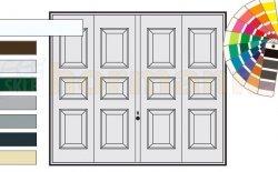 Brama uchylna N 80, 3000 x 2125, Wzór 975, kolor do wyboru