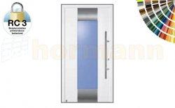 Drzwi aluminiowe ThermoSafe, Wzór 140, kolor do wyboru, przeciwwłamaniowe RC 3