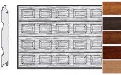 Brama LPU 42, 5000 x 2000, Kasetony S, Decograin, okleina drewnopodobna