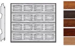 Brama LPU 42, 3000 x 2500, Kasetony S, Decograin, okleina drewnopodobna