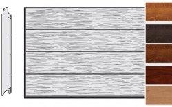 Brama LPU 42, 3250 x 2250, Przetłoczenia L, Decograin, okleina drewnopodobna