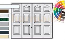 Brama uchylna N 80, 3000 x 2125, Wzór 977, kolor do wyboru