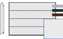 Brama LPU 42, 4750 x 2250, Przetłoczenia L, Sandgrain, kolor do wyboru