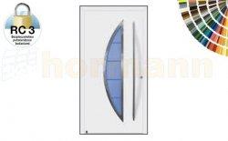 Drzwi aluminiowe ThermoSafe, Wzór 45, kolor do wyboru, przeciwwłamaniowe RC 3