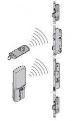 Ryglowanie wielopunktowe z otwieraniem przy pomocy radiowego skanera linii papilarnych i nadajnika do drzwi ThermoPlus
