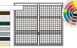 Brama uchylna N 80, 2500 x 2250, Wzór 903 spawana krata 100 x 100 x 5 mm, kolor do wyboru