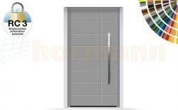 Drzwi aluminiowe ThermoSafe, Wzór 862, kolor do wyboru, przeciwwłamaniowe RC 3