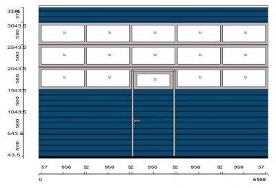 Brama przemysłowa HORMANN 5010 x 3375 z napędem i drzwiami
