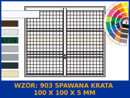 Wzór 903 Spawana krata 100 x 100 x 5 mm