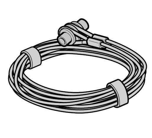 Lina stalowa Ø 3 mm z mocowaniem, prowadzenie Z, komplet do każdej bramy, L = 2740, wysokość bramy do 2250