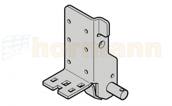 Dolny uchwyt rolki, głębokość montażowa 42, typ prowadzenia H, HD, HS, HU, HB, V, VU, VS, VB, NH, ciężar płyty bramy do 400 kg, prawy