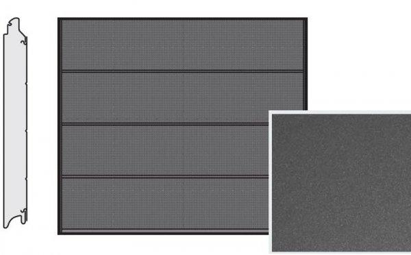 Brama LPU 42, 2315 x 2080, Przetłoczenia L, Decograin, Titan Metallic CH 703