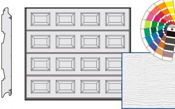 Brama LPU 42, 2440 x 1955, Kasetony S, Woodgrain, kolor do wyboru