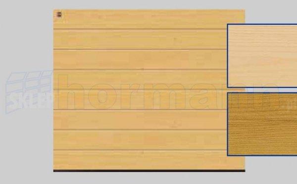 Brama LTH, 2500 x 2125, Przetłoczenia M, Świerk
