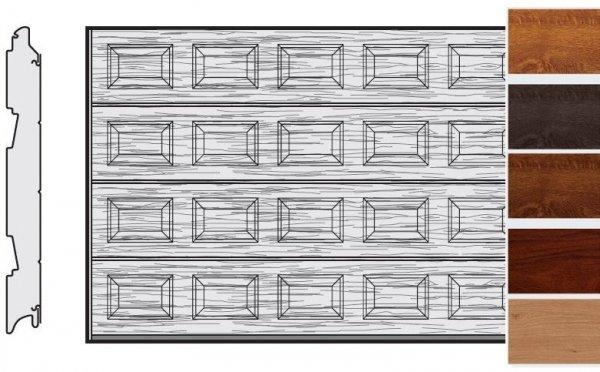 Brama LPU 42, 4250 x 2000, Kasetony S, Decograin, okleina drewnopodobna